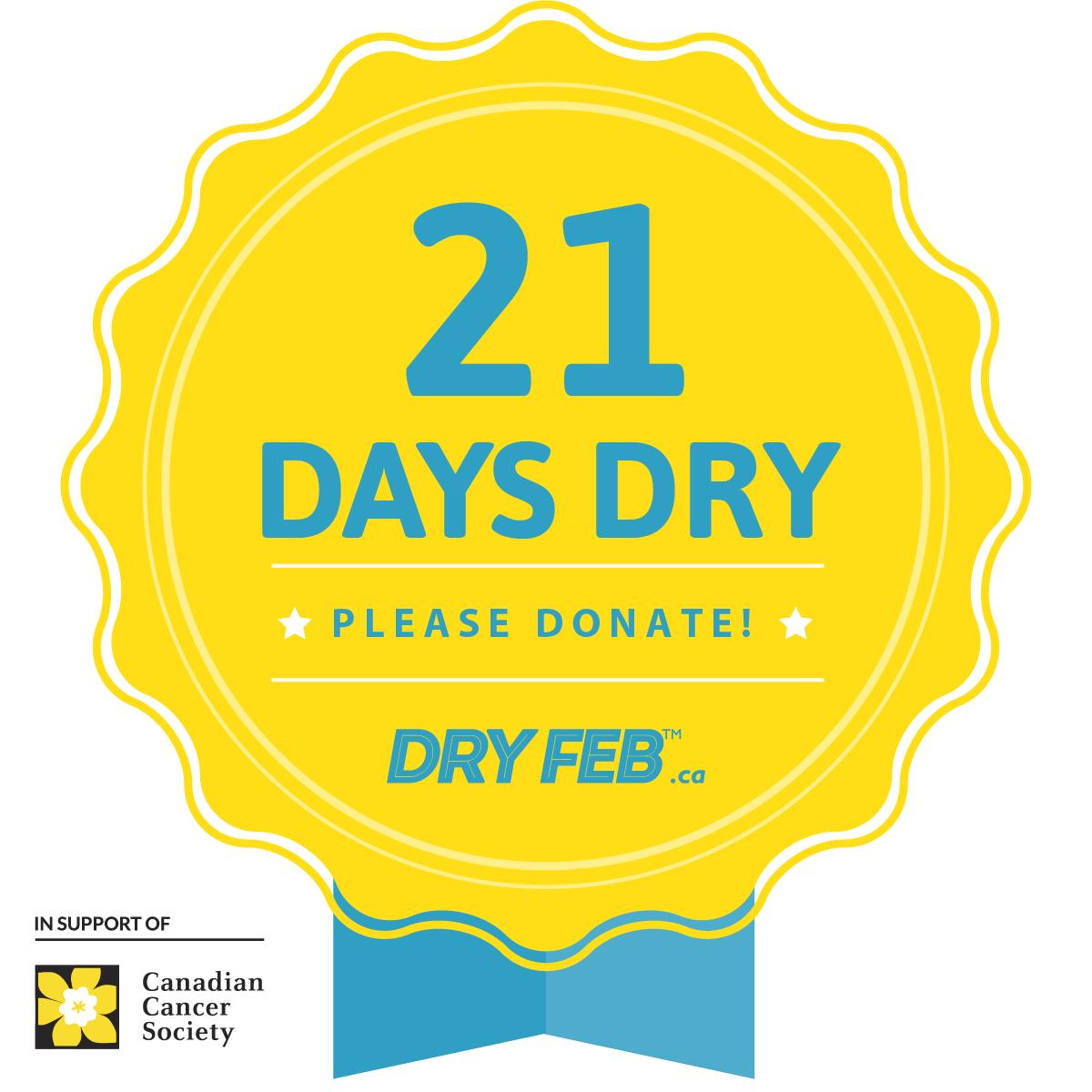 Df21 Milestone Badges 1200x1200 21 Days Dry