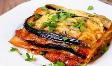 Small eggplant lasagna