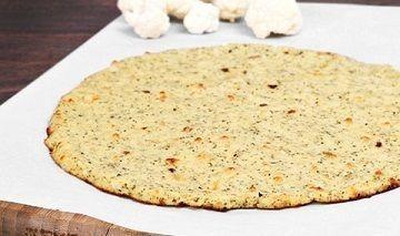 Small cauliflower pizza crust